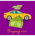 Buying Car Concept vector image vector image