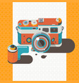 camera vintage photography abstract backgro vector image vector image