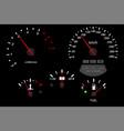 car dashboard black scales fuel gauge vector image vector image