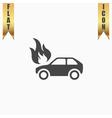 Car fire icon vector image