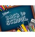 cartoon school supplies vector image vector image
