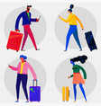 character design flat trendy persons vector image vector image