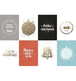 Christmas and New year cards vector image vector image