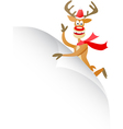 christmas deer with blank page vector image