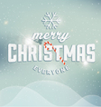 Christmas Greeting Card Design Element vector image vector image