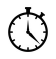 clock icon time icon symbol isolated on white vector image vector image