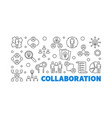 collaboration outline concept vector image vector image