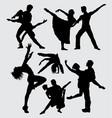 couple ballet dance silhouette vector image vector image