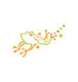 creative frog logo design vector image