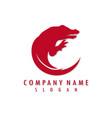 crocodile logo vector image