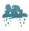 crying cloud sad face vector image