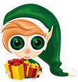 Cute elf presents vector image