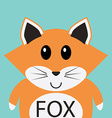 Cute fox cartoon flat icon avatar vector image