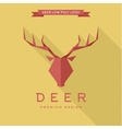Deer logo polygonal elements of the trend vector image