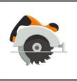 design of manual circular saw vector image vector image
