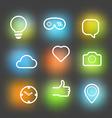 Different icons set Design elements vector image