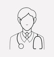doctor icon line element of vector image