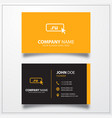 domain ru icon business card template vector image vector image