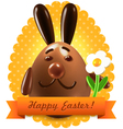 Easter postcard greetings vector image vector image