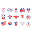 election badges political campaign usa vector image