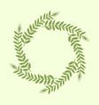 elegant green floral frame vector image vector image