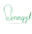 energy green vector image vector image
