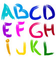 english alphabet brush vector image vector image