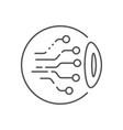 eye circuit icon ai concept vector image
