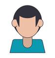faceless man avatar profile isolated