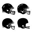 Football helmet sport icon symbols