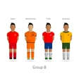 Football teams Group B - Spain Netherlands Chile vector image vector image