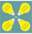 Four big yellow light bulb Idea concept Business vector image vector image