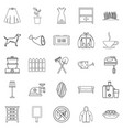generation icons set outline style vector image