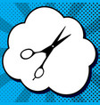 hair cutting scissors sign black icon in vector image vector image