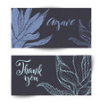 hand drawn cacti banners vector image vector image