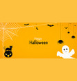 happy halloween yellow background or banner vector image vector image