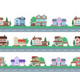 houses on road home facades cottage or vector image