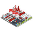 Isometric oil refinery