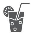 lemonade glyph icon food and drink juice sign vector image vector image