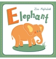Letter E - Elephant vector image vector image
