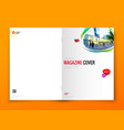 magazine cover design corporate business brochure vector image vector image
