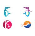 mermaid logo template vector image