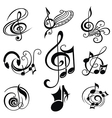 Musical Design Elements Set vector image vector image