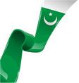 pakistan ribbon flag on white background vector image