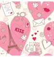 Pattern for Valentines Day vector image