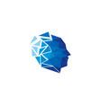 pixel human head logo icon design vector image