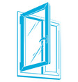 plastic window icon vector image