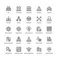 project management line icons set 3 vector image vector image