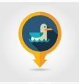 Seagull pin map flat icon Summer Vacation vector image vector image