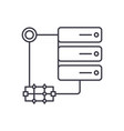 server technology line icon concept server vector image vector image